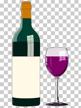 Wine Glass Bottle Bordeaux Wine PNG