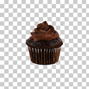 Cupcake Chocolate Cake Ganache Chocolate Brownie Muffin PNG