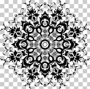 Black And White Visual Arts Floral Design Drawing Flower PNG