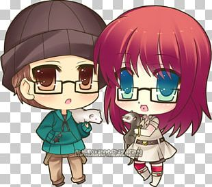 Chibi Mangaka Drawing Anime PNG
