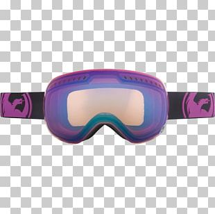 Goggles Purple Blue Yellow Red PNG