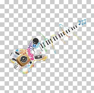 Microphone Guitar Music PNG