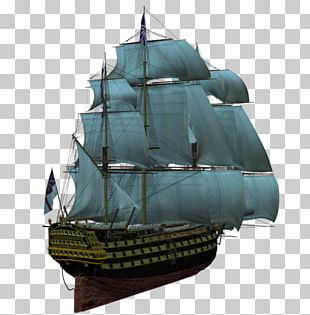 Brigantine Ship Of The Line Galleon Barque PNG