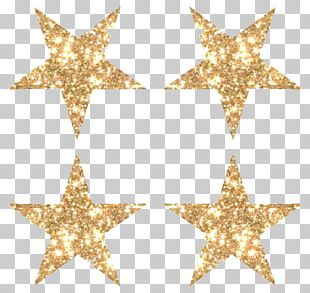 Star Glitter Gold PNG