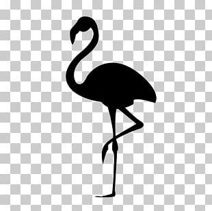 Flamingo Silhouette Stencil PNG