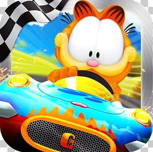 Garfield Kart Fast & Furry Super Mario Kart PNG