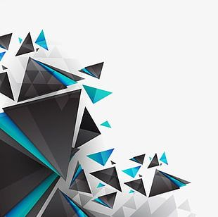 Creative Geometric Pieces PNG
