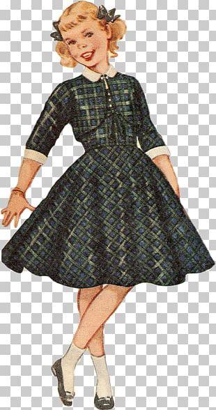 Dress Vintage Clothing Digital Stamp Postage Stamps PNG