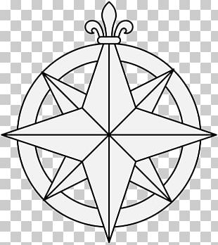 Compass Rose Walking Line Drawing Wind Rose PNG