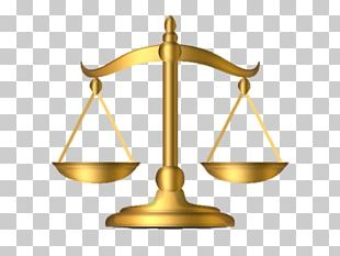 Measuring Scales Lady Justice Gold PNG