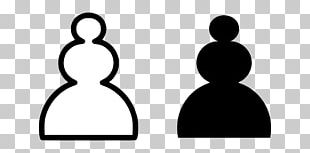 Chess Piece Pawn White And Black In Chess PNG