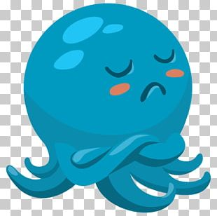 Octopus Sticker VKontakte Telegram PNG