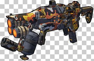 Borderlands 2 Submachine Gun Weapon PNG