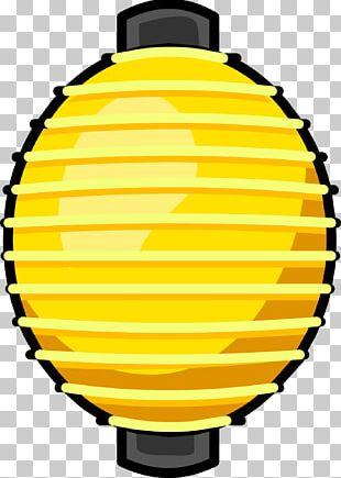 Club Penguin Paper Lantern Light Yellow PNG