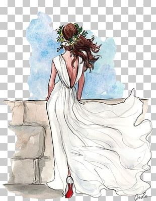 Drawing Wedding Dress Bride Sketch PNG