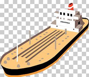 Oil Tanker Petroleum Barge PNG