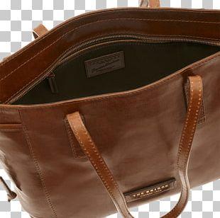 Handbag Leather Brown Caramel Color Strap PNG
