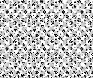Dog Paw Cat Pattern PNG