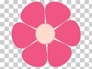 Pink Flowers Open Floral Design PNG