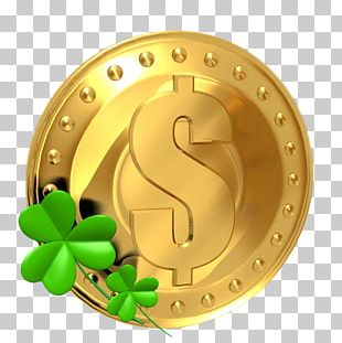 Saint Patricks Day Luck Coin Four-leaf Clover PNG