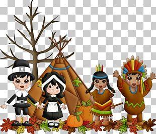 Thanksgiving Day Pilgrims Thanksgiving Dinner PNG