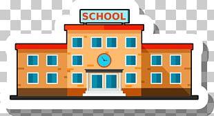 School Building Escuela Illustration PNG