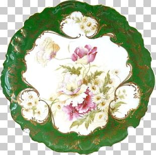 Rose Family Floral Design Porcelain PNG