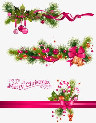 Green Simple Christmas Decorative Decorative Patterns PNG