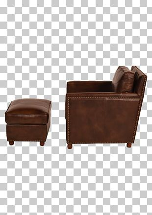 Club Chair Eames Lounge Chair Foot Rests Leather PNG