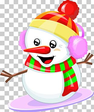Santa Claus Snowman Christmas Ornament PNG