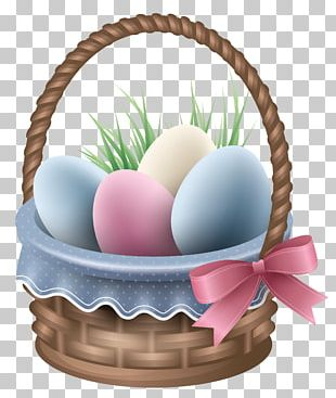 Easter Bunny Egg In The Basket PNG