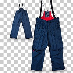 Jeans Cobalt Blue Hockey Protective Pants & Ski Shorts Overall PNG