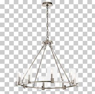 Chandelier Beveled Glass Light Fixture PNG
