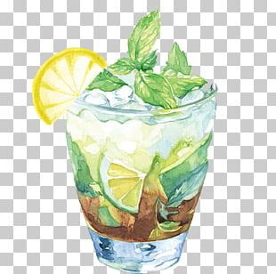 Juice Iced Tea Cocktail Illustration PNG