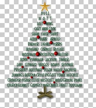 Christmas Tree Christmas Ornament Genealogy Family Tree PNG