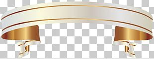Paper Ribbon Gold PNG