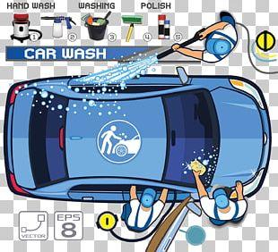 Car Wash Motor Vehicle Service Illustration PNG