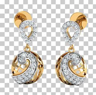 Diamond Earring Jewellery Gold PNG