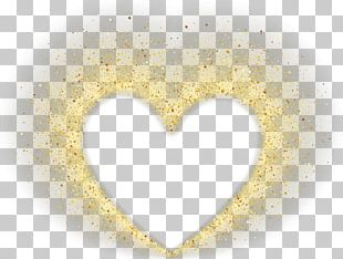 Yellow Heart Pattern PNG