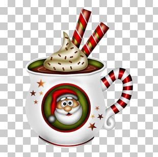 Ice Cream Coffee Cup Santa Claus PNG