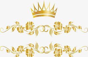 Golden Crown Tree Rattan PNG