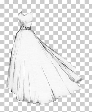 Drawing Wedding Dress Gown Sketch PNG