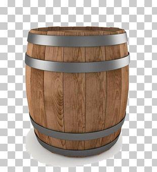 Whisky Wine Beer Barrel Illustration PNG