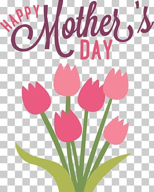 Happy Mothers Day Flowers PNG