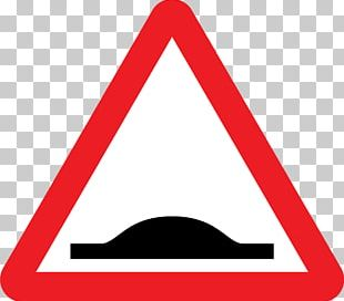 Speed Bump Traffic Sign Road Warning Sign PNG