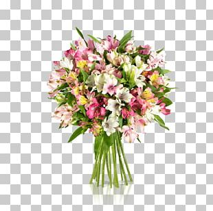 Lily Of The Incas Flower Bouquet Cut Flowers Floral Design PNG