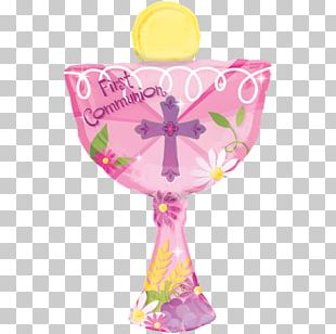 First Communion Eucharist Chalice Mylar Balloon Baptism PNG