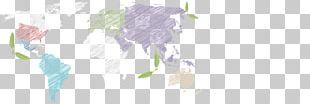Old World World Map Flamingo PNG