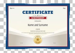 Academic Certificate Illustration PNG