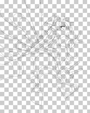 Flowering Plant Line Art Cartoon Sketch PNG